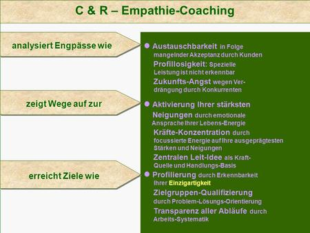 C & R – Empathie-Coaching