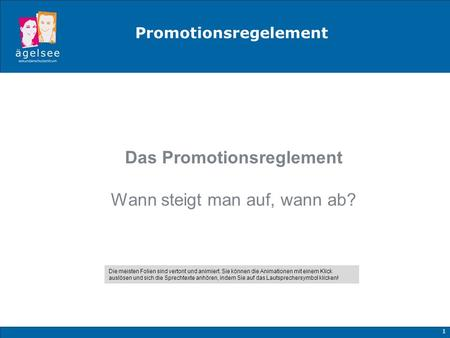 Promotionsregelement Das Promotionsreglement