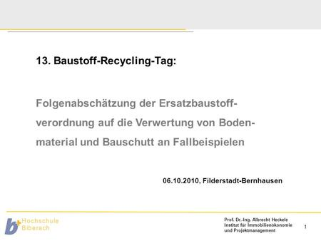 13. Baustoff-Recycling-Tag: