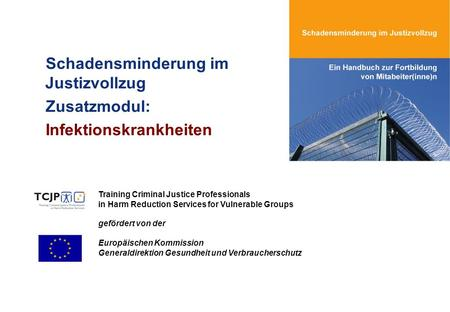 Schadensminderung im Justizvollzug Zusatzmodul: Infektionskrankheiten Training Criminal Justice Professionals in Harm Reduction Services for Vulnerable.