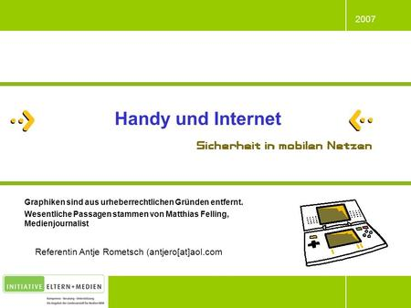 Handy und Internet Referentin Antje Rometsch (antjero[at]aol.com