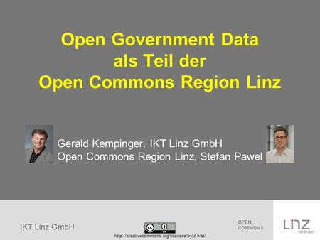 Open Government Data als Teil der Open Commons Region Linz
