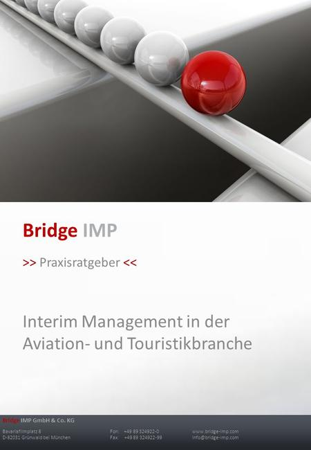 Bridge IMP Interim Management in der Aviation- und Touristikbranche