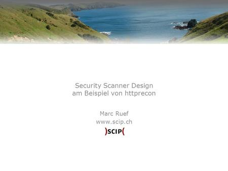 Security Scanner Design am Beispiel von httprecon