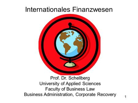 Internationales Finanzwesen