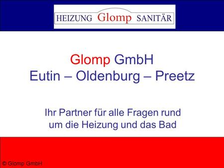 Glomp GmbH Eutin – Oldenburg – Preetz