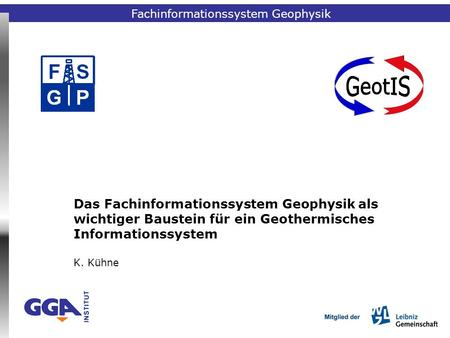 Fachinformationssystem Geophysik