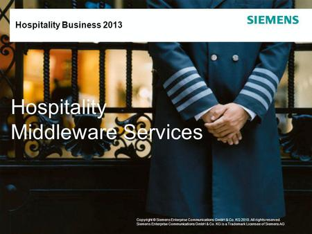 Hospitality Middleware Services Hospitality Business
