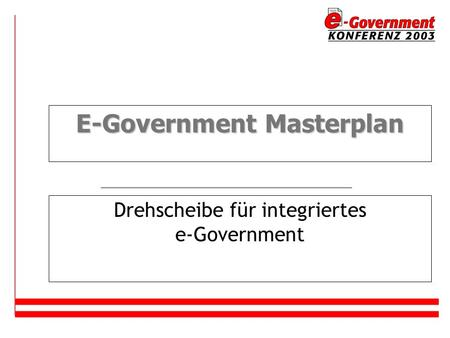 E-Government Masterplan