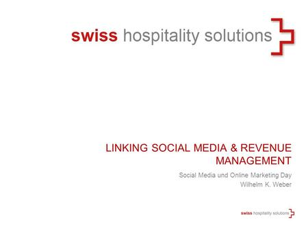 Linking Social Media & Revenue Management