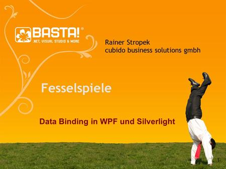 1 Rainer Stropek cubido business solutions gmbh Fesselspiele Data Binding in WPF und Silverlight.