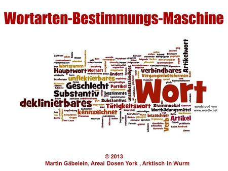 Wortarten-Bestimmungs-Maschine