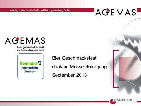 Bier Geschmackstest drinktec Messe-Befragung September 2013.