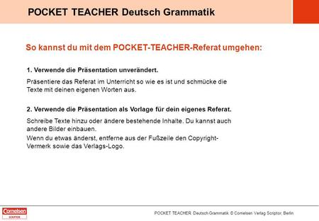 POCKET TEACHER Deutsch Grammatik