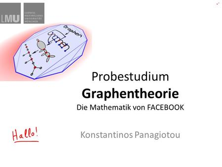 Probestudium Graphentheorie Die Mathematik von FACEBOOK