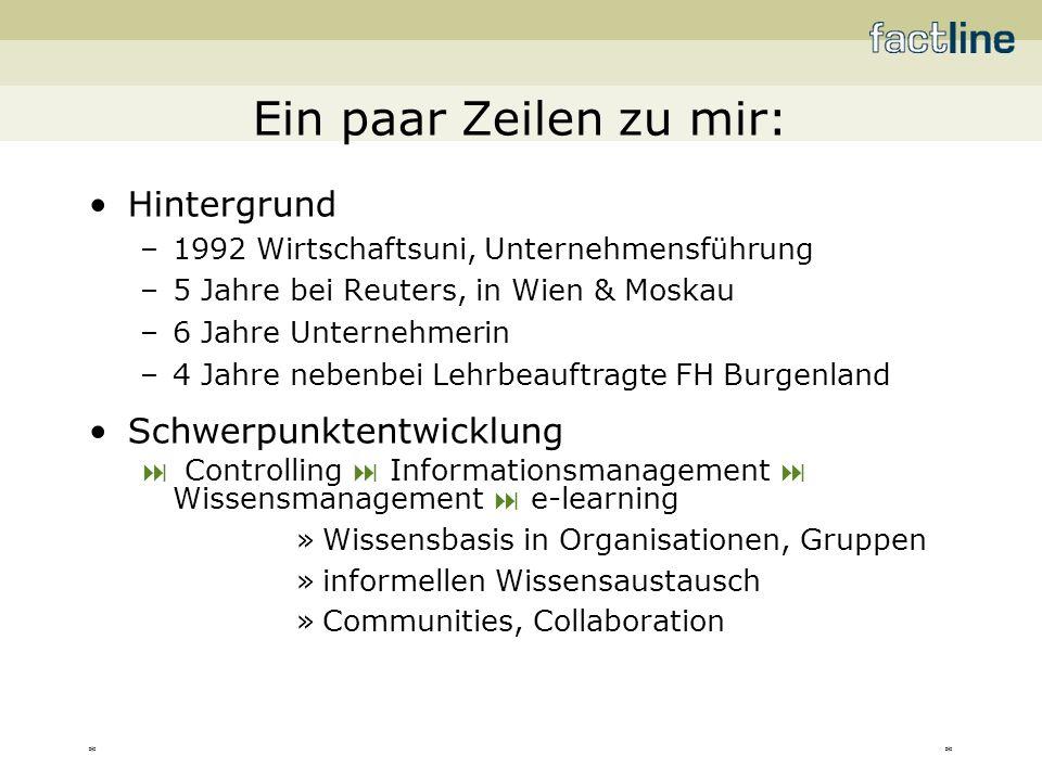 ** factline Webservices GmbH –gegründet: 04/99 –Standort: 1020 Wien, Praterstr.