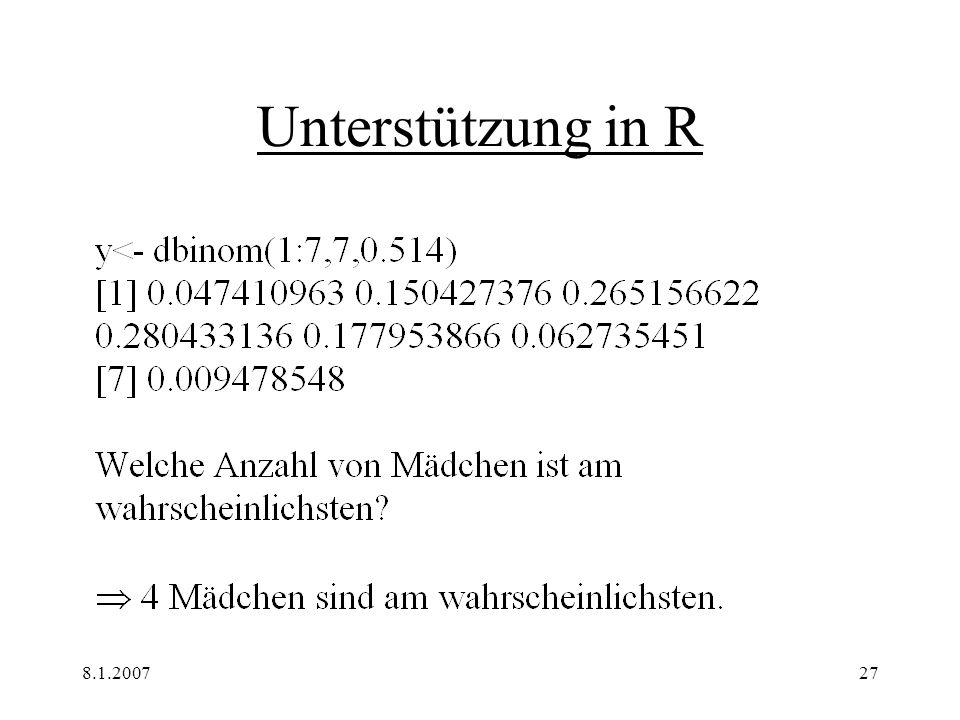 8.1.200728 Binomial - Verteilung II
