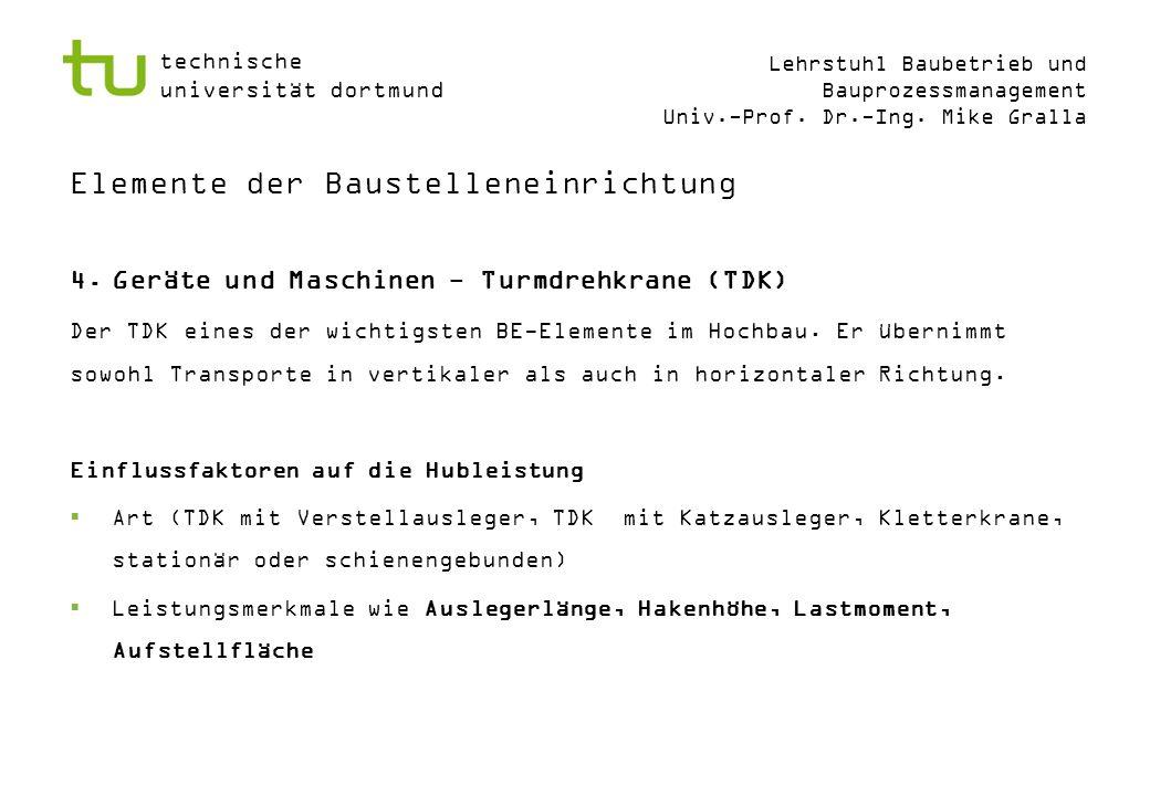 technische universität dortmund Lehrstuhl Baubetrieb und Bauprozessmanagement Univ.-Prof.