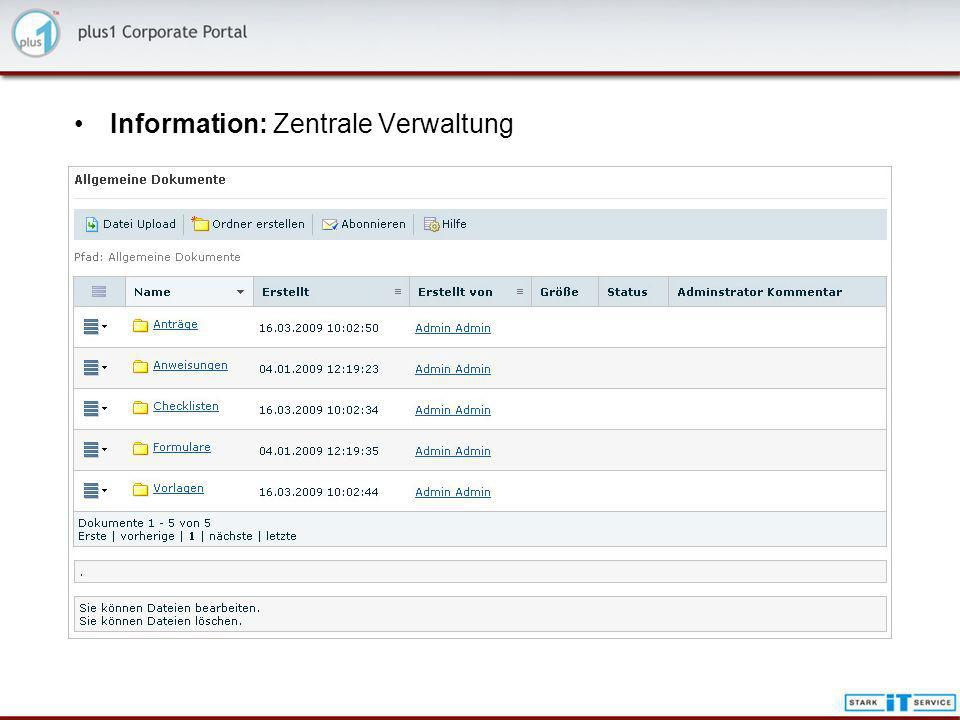 Information: Workflow und Dokumentenmanagement