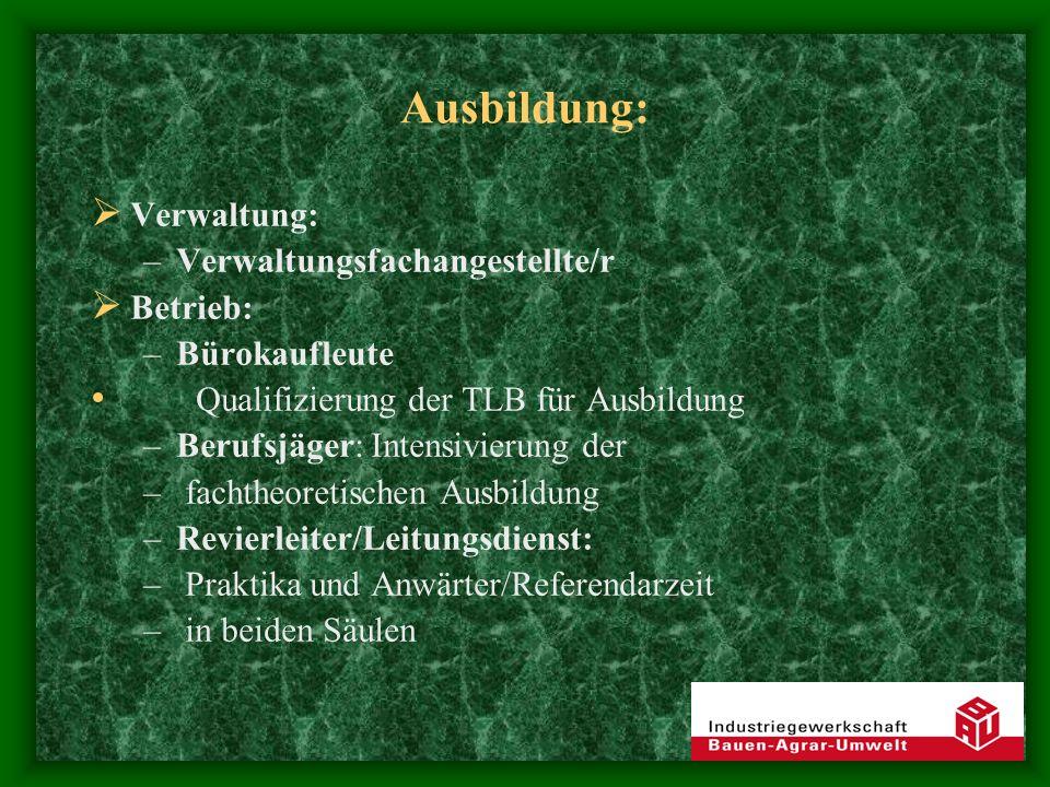 Fortbildung : Arbeiter WEZ, Natura 2000 usw.: Fortbildung im pädagogischen Bereich, in aktuellen Arbeitsverfahren etc.