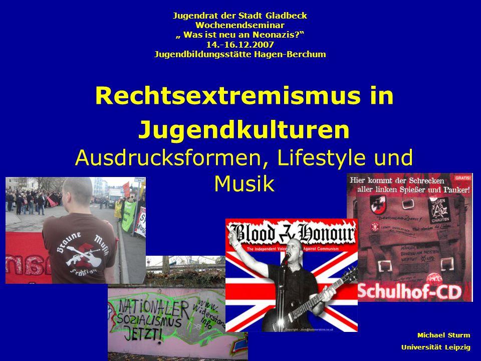 Inhalt I.Organisierter Rechtsextremismus in Deutschland – Ein Überblick II.RechtsRock – Einstiegsdroge in die rechte Szene.