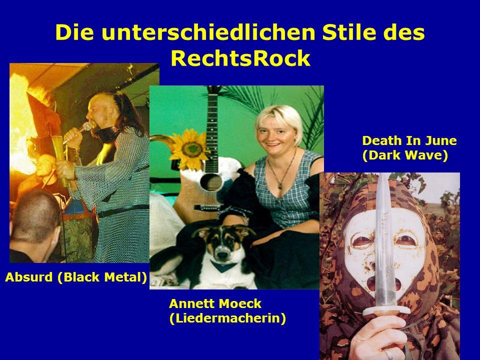 RechtsRock in Nordrhein-Westfalen Oidoxie (Dortmund) Weiße Wölfe (Arnsberg) Sleipnir (Gütersloh) Sturmwehr (Gelsenkirchen) Eskil (Düsseldorf/Mettmann) Extressiv (Kreis Unna)