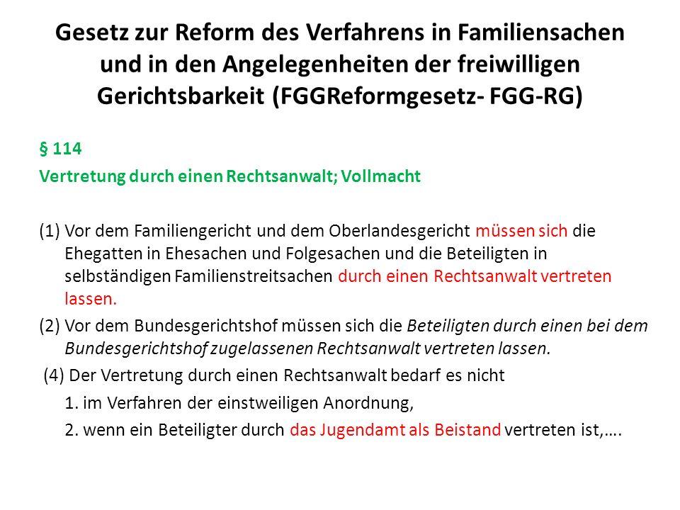Gesetz zur Reform des Verfahrens in Familiensachen und in den Angelegenheiten der freiwilligen Gerichtsbarkeit (FGGReformgesetz- FGG-RG) § 32 Termin (3) In geeigneten Fällen soll das Gericht die Sache mit den Beteiligten im Wege der Bild- und Tonübertragung in entsprechender Anwendung des § 128a der Zivilprozessordnung erörtern.