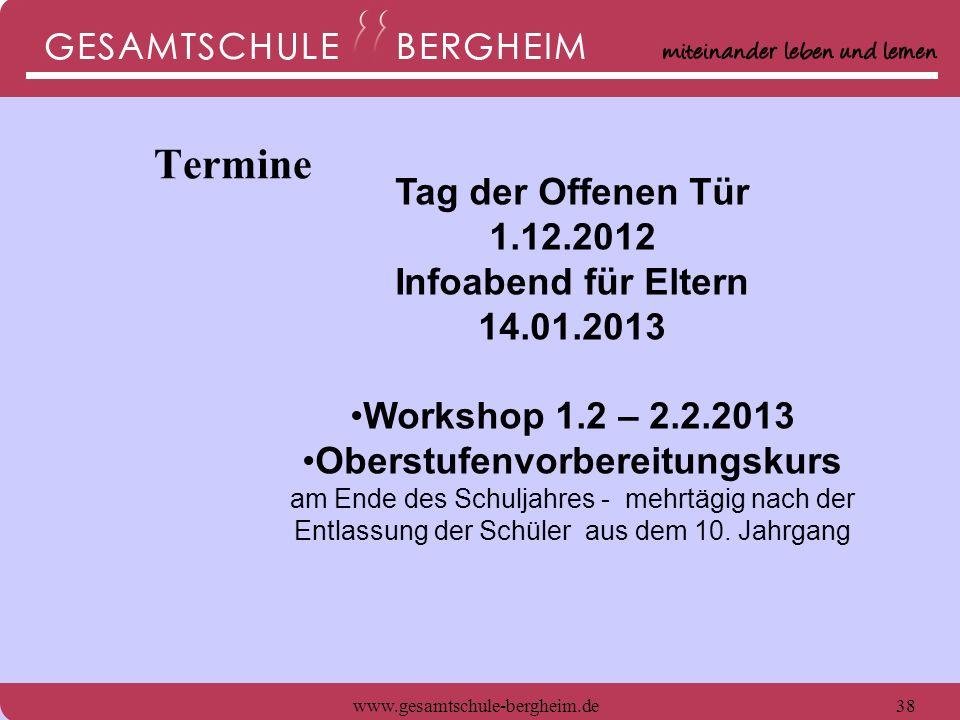 www.gesamtschule-bergheim.de39 Wir freuen uns auf interessierte, beigeisterungsfähige junge Menschen.