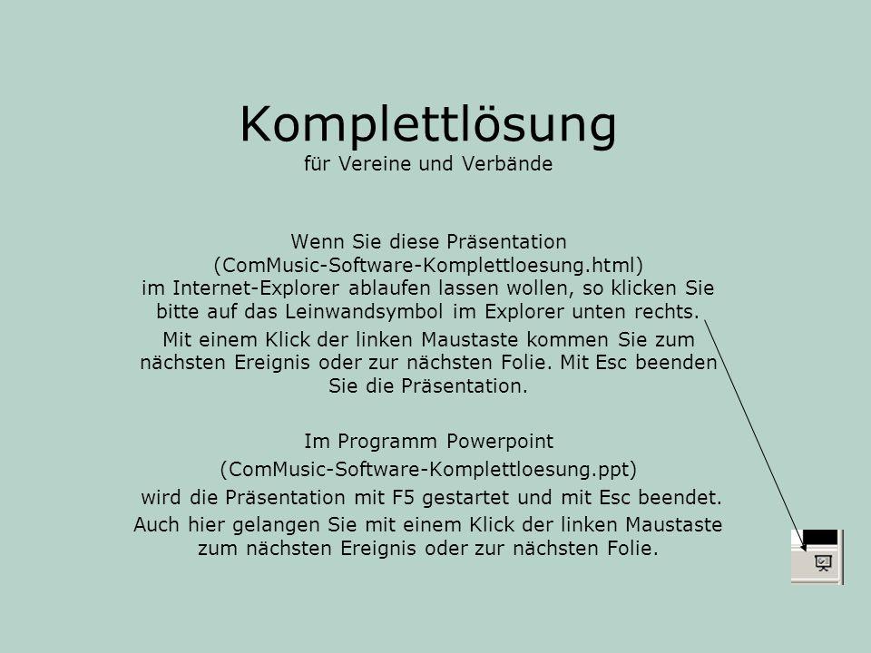 ComMusic-Software ComMusic GbR Spitzweidenweg 107 07743 Jena Telefon: 03641 / 890644 Telefax: 03641 / 890688 Email: info@commusic.de