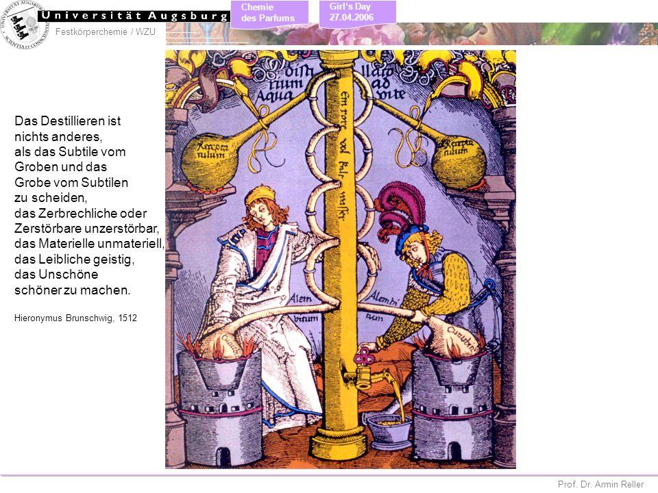Festkörperchemie / WZU Chemie des Parfums Prof. Dr. Armin Reller Girls Day 27.04.2006