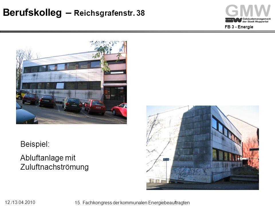 FB 3 - Energie 12./13.04.2010 15.Fachkongress der kommunalen Energiebeauftragten Reichsgrafenstr.