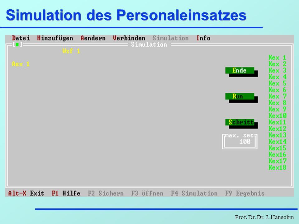 Prof. Dr. Dr. J. Hansohm Simulation des Personaleinsatzes