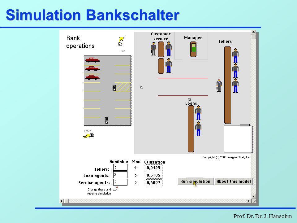 Prof. Dr. Dr. J. Hansohm Simulation Bankschalter