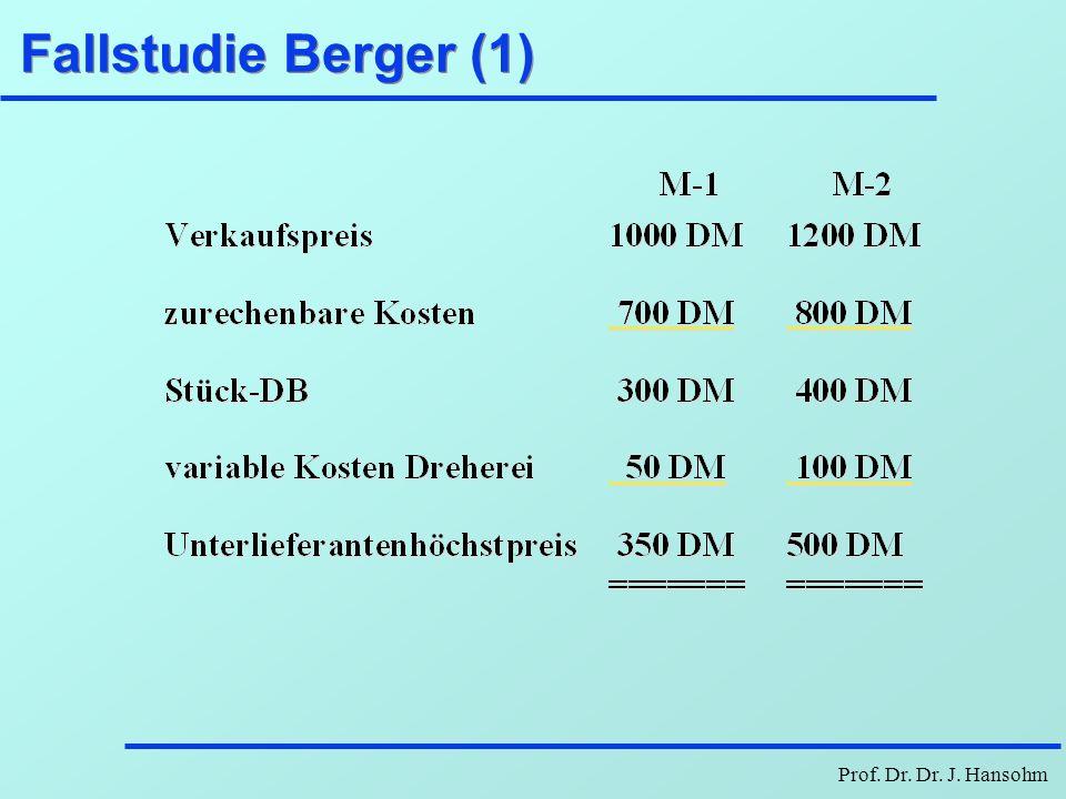 Prof. Dr. Dr. J. Hansohm Fallstudie Berger (1)