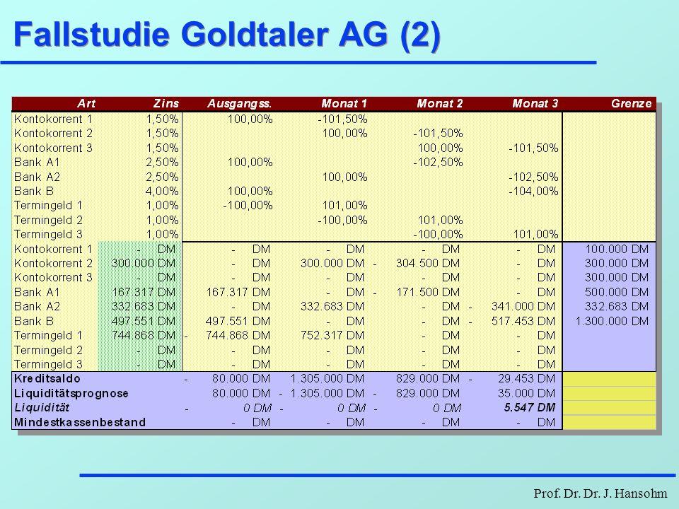 Prof. Dr. Dr. J. Hansohm Fallstudie Goldtaler AG (2)