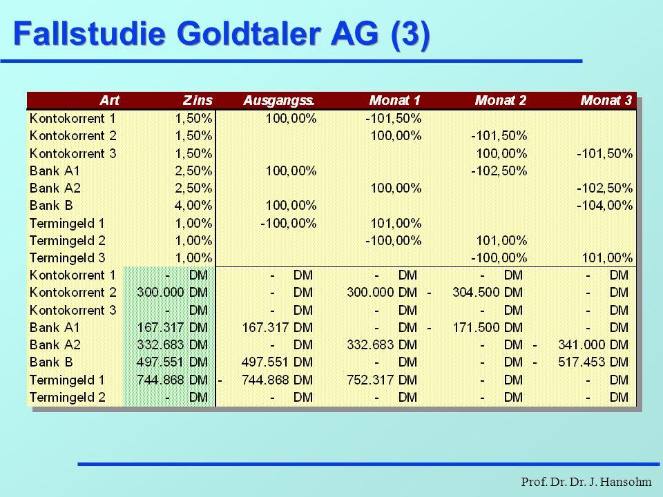 Prof. Dr. Dr. J. Hansohm Fallstudie Goldtaler AG (3)
