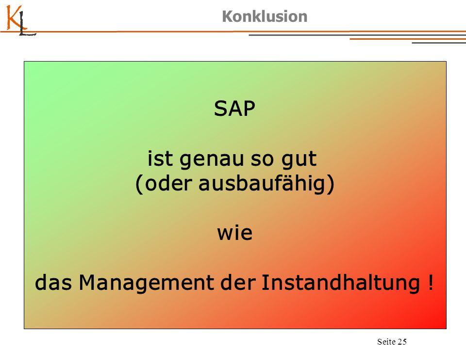 K L Seite 26 SAP, Instandhaltung und Management – Wie passt das zusammen.