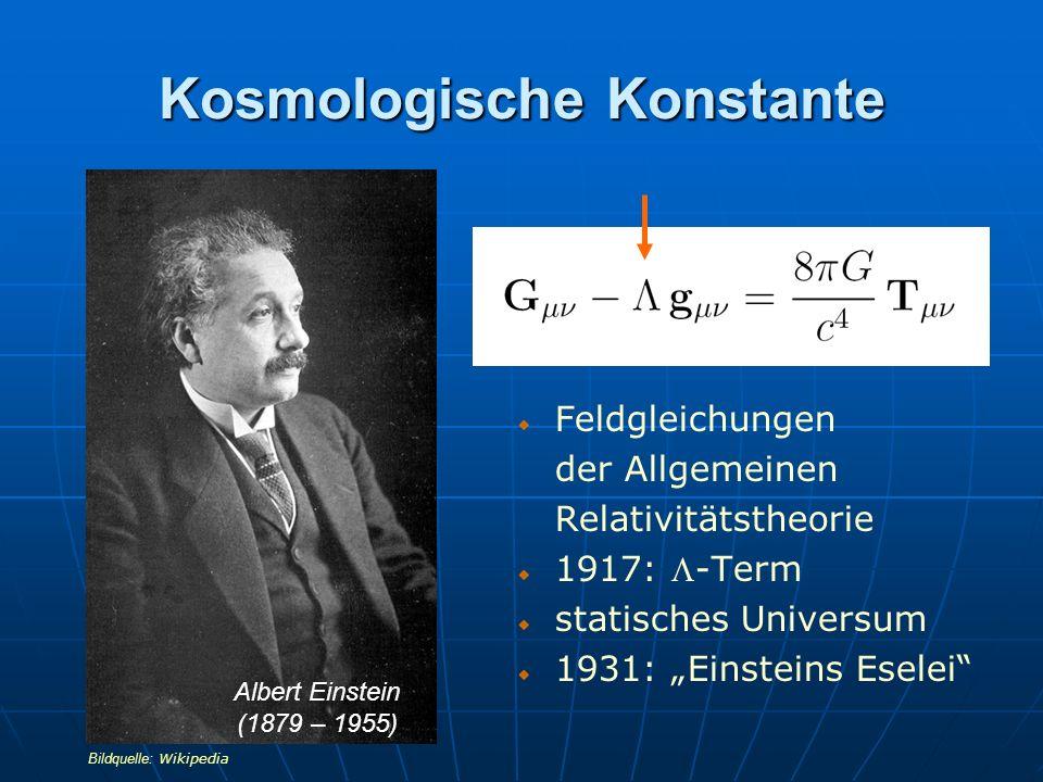 Bewegter Raum Pionier dynamischer Universen 1922: Entdeckung der Friedmann-Gleichungen Friedmann-Modell: = 0, k = +1 oder -1, p = 0 später: pulsierende Universen mit < 0 Aleksandr A.