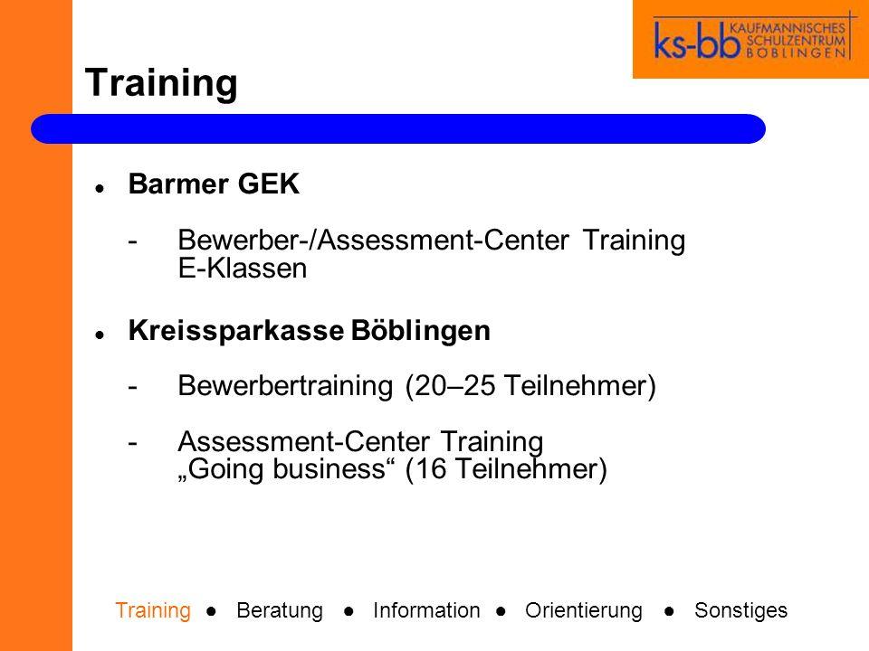Beratung Training Beratung Information Orientierung Sonstiges Bundesagentur für Arbeit -StudieninformationJ1 -Einzelberatung der J1 SchülerInnen (30 Minuten)