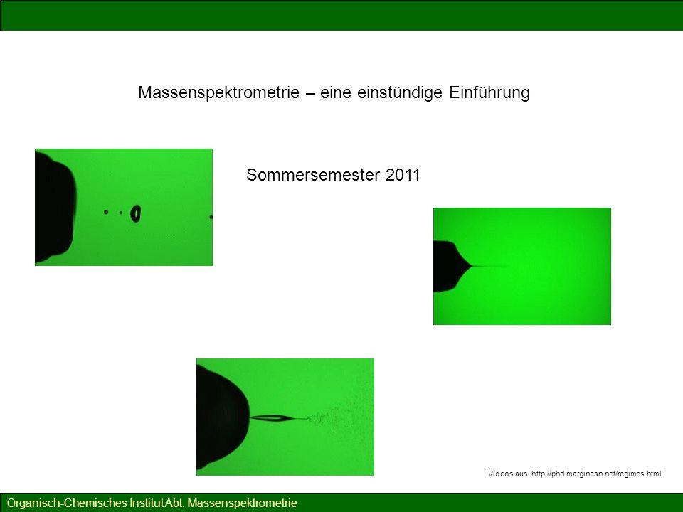 Massenspektrometrie – eine Einführung Was kann die Massenspektrometrie.