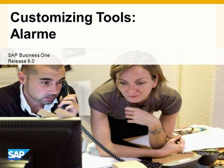 INTERN Customizing Tools: Alarme SAP Business One Release 9.0.