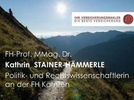 FH-Prof. MMag. Dr. Kathrin  STAINER-HÄMMERLE