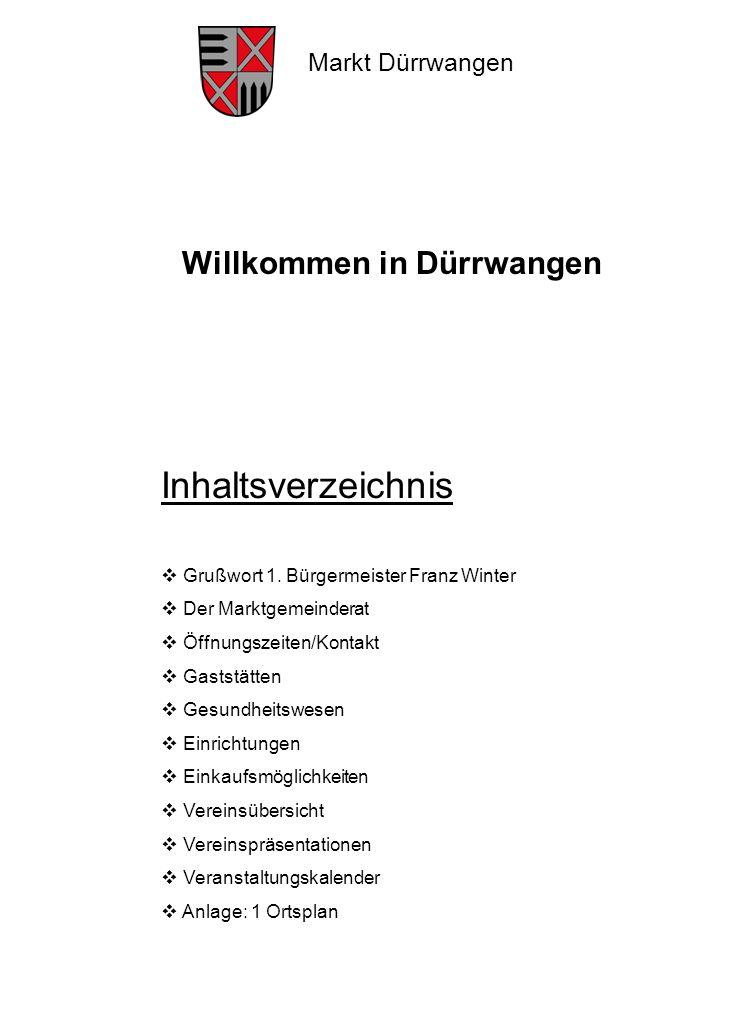Markt Dürrwangen Grußwort 1.