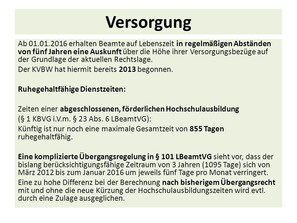 Versorgungslastenteilung bei Dienstherrnwechsel Bei einem Wechsel ab dem 01.01.2012 hat der abgebende Dienstherr eine einmalige Abfindung an den aufnehmenden Dienstherrn zu leisten.