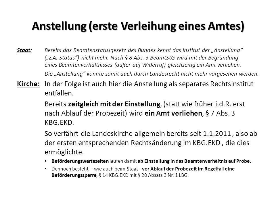 Laufbahnrecht Staat :Grundlegende Regelung im Landesbeamtengesetz (LBG).