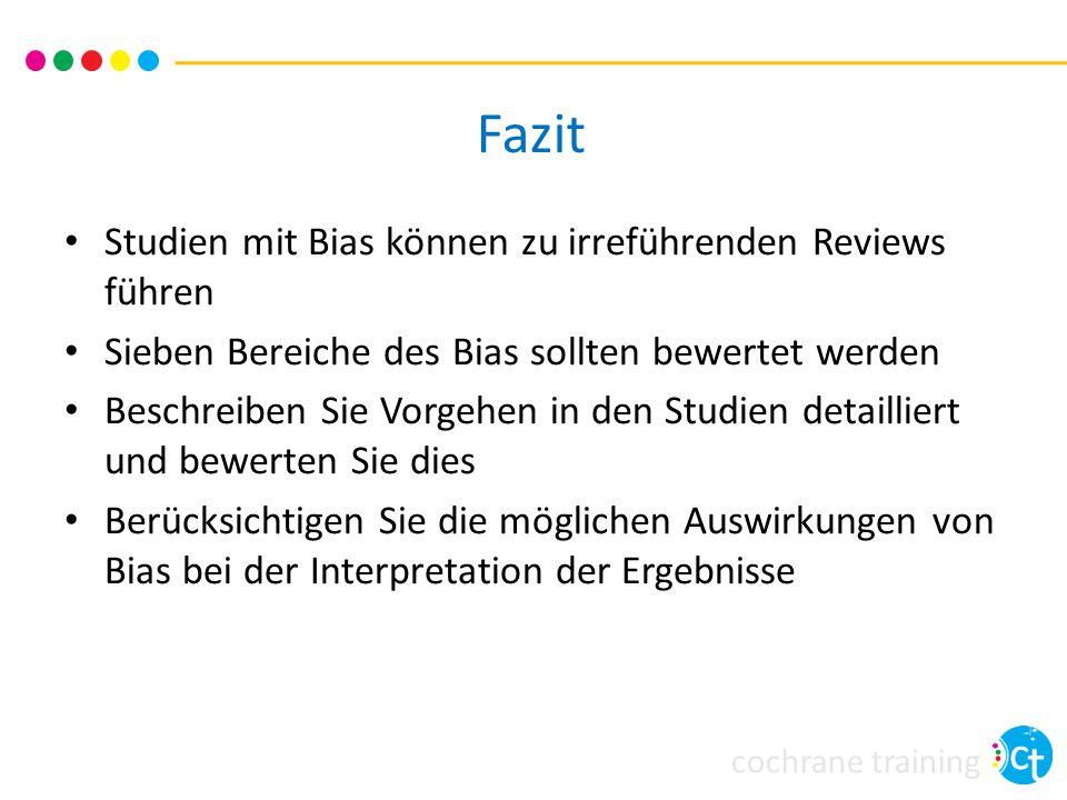 cochrane training Quellen Higgins JPT, Altman DG, Sterne JAC (editors).