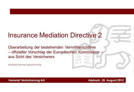 Insurance Mediation Directive 2