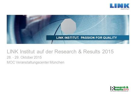 LINK Institut auf der Research & Results 2015