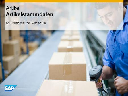 INTERN Artikel Artikelstammdaten SAP Business One, Version 9.0.