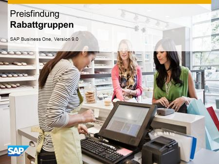 INTERN Preisfindung Rabattgruppen SAP Business One, Version 9.0.